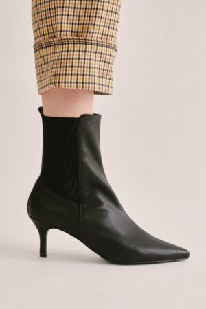 Panel Leather Boot