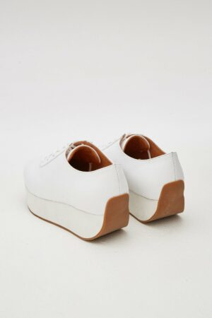 Curved Leather Sneaker