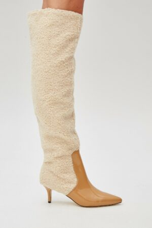 Piped Shearling Boot