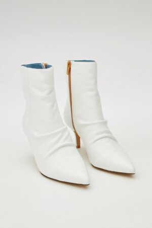 Pleat Leather Boot