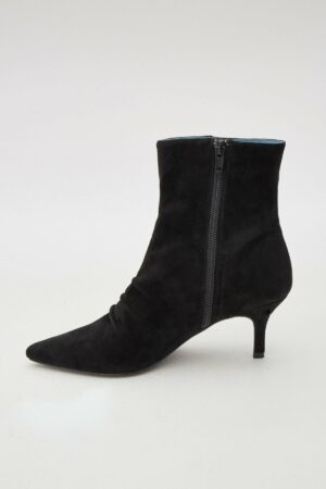 Pleat Suede Boot