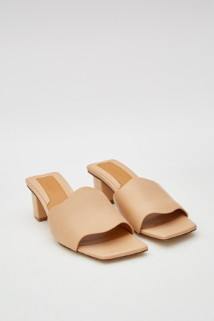 Scallop Leather Heel